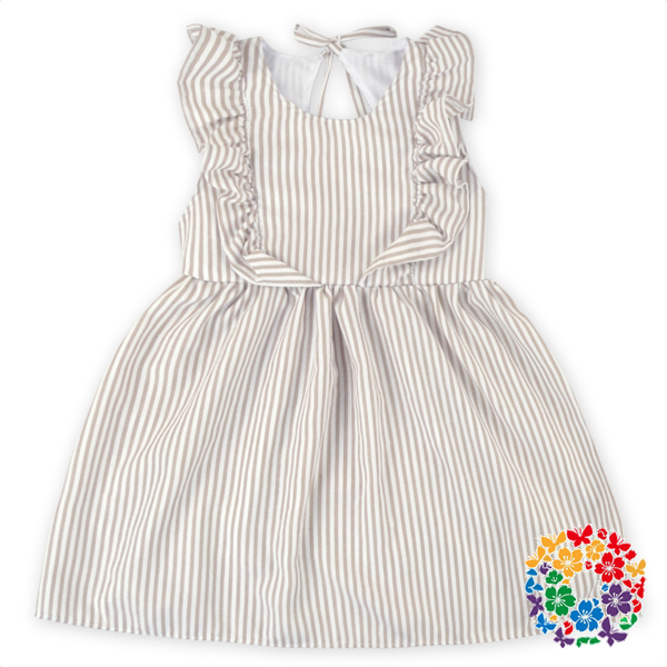 2016 New Arrival Children Summer Dress Baby Girls Seersucker Party Dress Beautiful Birthday Dress 1 Year Old Girl