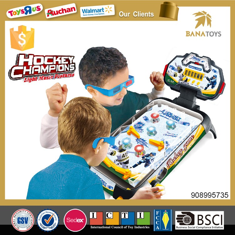 2017 New educational toys for kids hockey pinball with light and music