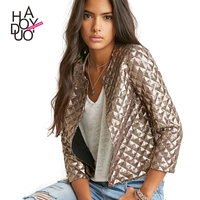 HAODUOYI Women New Winter Jackets Full Sequines Bling Bling coat Three Quarter Sleeves Jackets for Wholesale