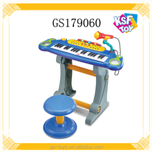 Plastic Musical Instrument Toy Battery Operated Organ For Kids