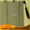 Flexible steel wire mesh fireplace replacement screen mesh