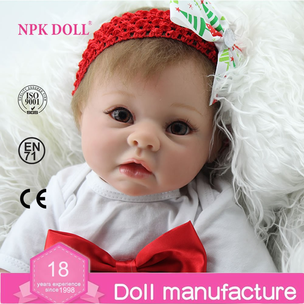 Wholesale NPK Doll 22 inches soft silicone reborn babies for sale Christmas Gift for kids looking real baby dolls