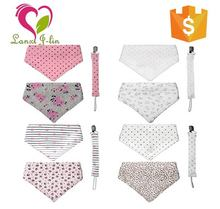 New Fashion and Comfortable Baby Bandana Drool Bib with Snap