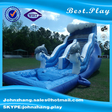 New design China cheap pool used inflatable water slide for sale