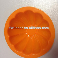 Orange Halloween pumpkin shaped mini cake silicone mould