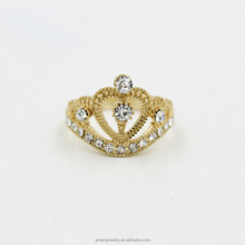 Wholesale Price Fashion Gold Crown Ring For Women
