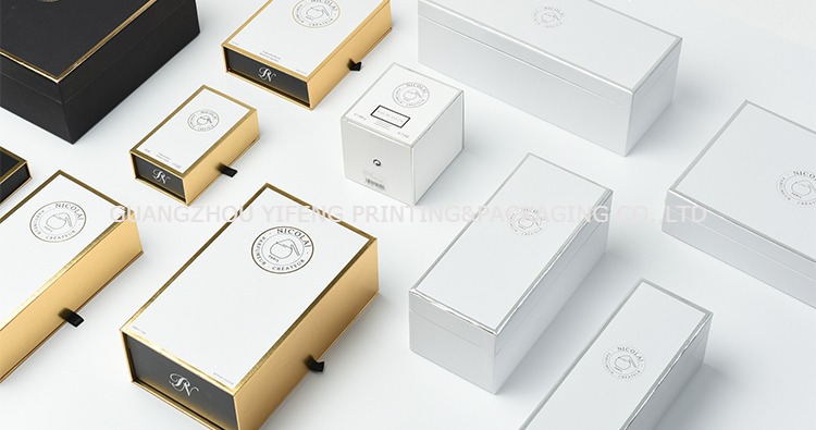Customized black decorative closure rigid cardboard cosmetic paper packing box with foam insert