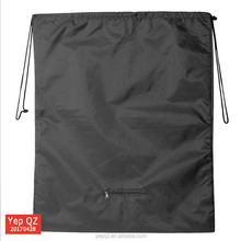 China professional manufacturer supply black color personalized make your own drawstring bag with small pocket