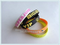 Personalized Silicone Hand Band ,Dual Layer Silicone Bracelet Custom