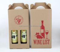 High Quality 2 Bottle Paper Wine Bags