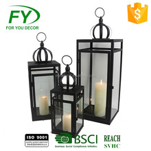 Top quality mirror metal products cast iron garden candle lantern