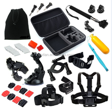Wholesale Accessories Cheap for GoPro Accessories Kits w/ Bag Handbar Mount HeadStrap
