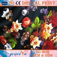 Custom Digital Printing Knitted Polyester Elastane Fabric