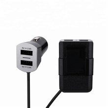 Hot Sale 2017 9.6A 4 USB Port Back Seat Car Charger With 1.8M Cable