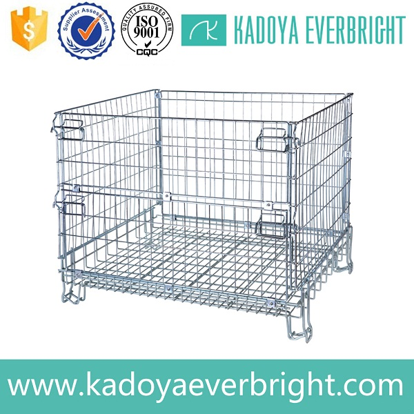 Industry galvanized metal folding steel logistics roll cage