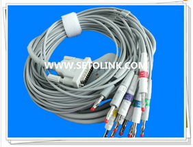 SCHILLER 10 LEADS BANANA END ECG EKG CABLE