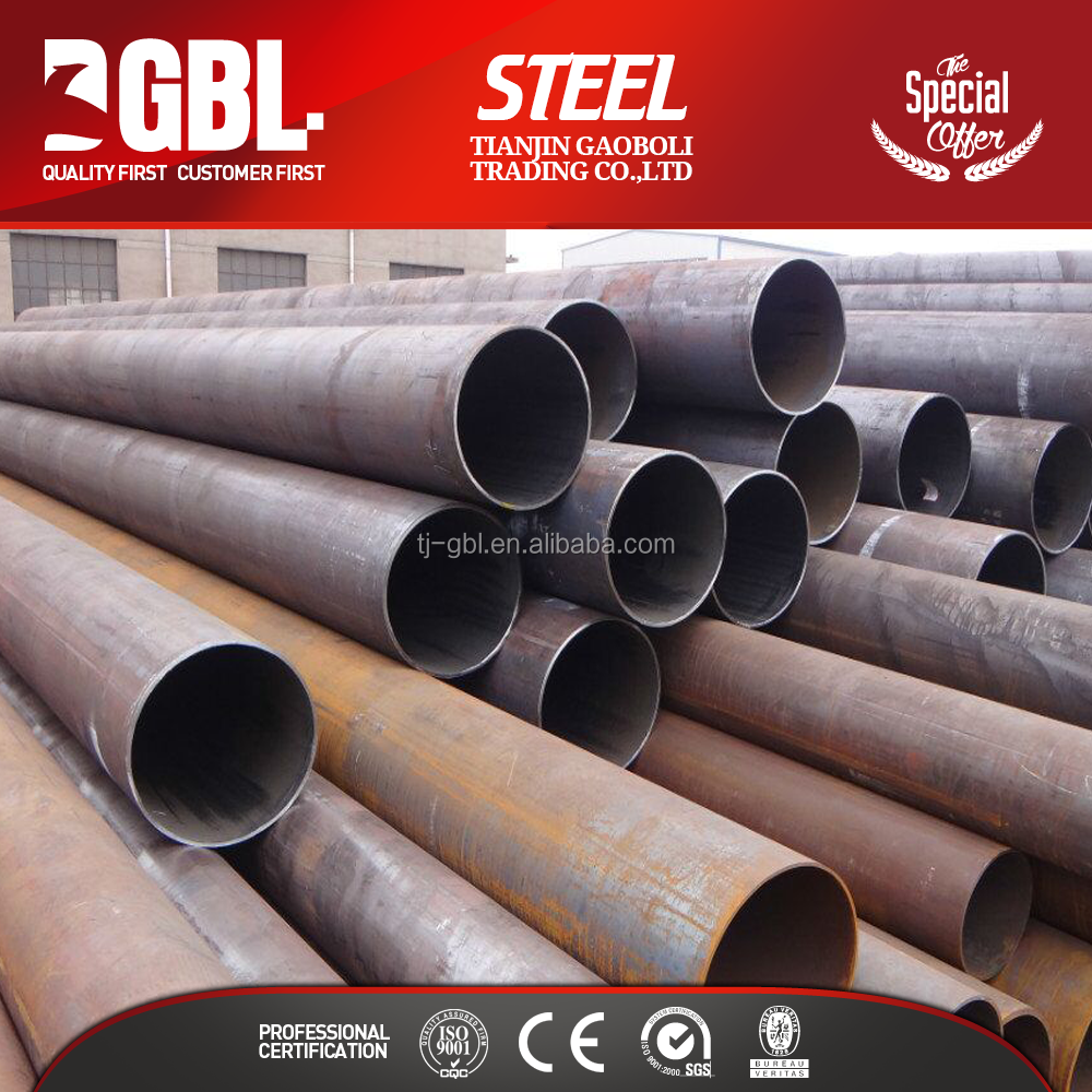 "china supplier erw weld large diameter 26""steel pipe price"