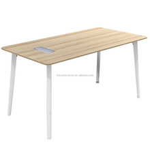 2016 UAE Market Melamine Panel Aluminium Leg Table Desk