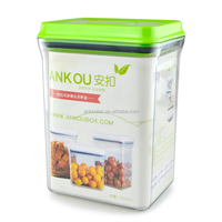 Strongly Sealing Kitchen Use Food Grade BPA Free Rectangle Plastic Container/ Airtight Pet Food Storage Container