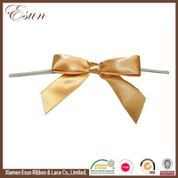 Brown gift wrapping ribbon bows for decorating gift wine package