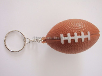 Anti Stress Squeeze Ball American football Keychain