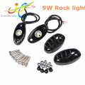 Waterproof bluetooth control RGB LED rock light under car light led deck light for truck offroad boat
