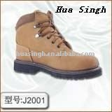 Rubber Stitched Sole Suede Leather upper Safety Shoes