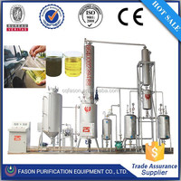 Continuous running used engine oil recycling machine
