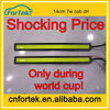 Bargain prices during world cup!universal drl cob led daytime running light flexible e60 slim headlight