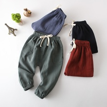 2018 Baby <strong>Boy</strong> Girl Cotton <strong>Pants</strong> Children's Clothing Leggings Cotton linen <strong>Pants</strong> Trousers