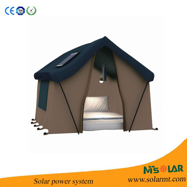 Video enclosed 30W/12v portable solar power system for small homes