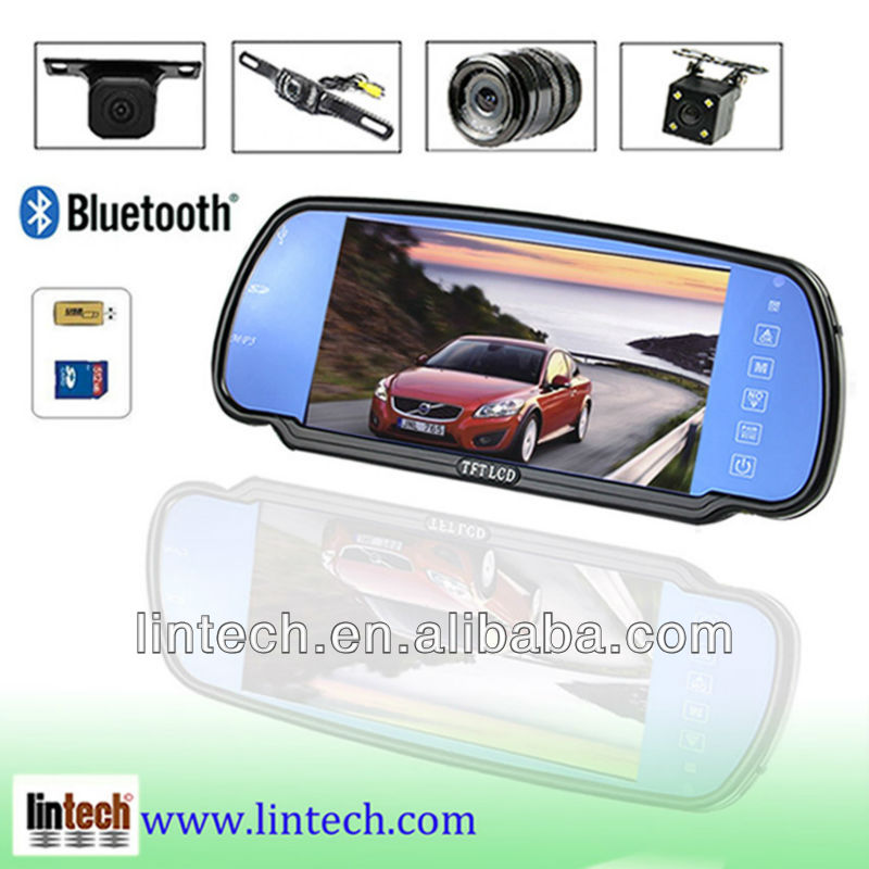 Car reverse rear view mirror standalone LCD Monitor+ Night vision Camera