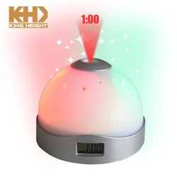KH-0235 2018 Kingheight Changed Color Digital Alarm Clock Projection for Bedroom