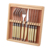 Kinds of laguiole fork 6pcs plus laguiole knife 6pcs in one set