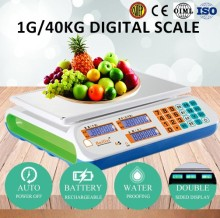 30kg digital price scale double pan balance