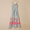 Female summer sleeveless maxi two color casual chiffon dress