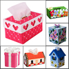 Red Heart Kits Suppliers Plastic & Cotton Cross Stitch Sets Tissue Box