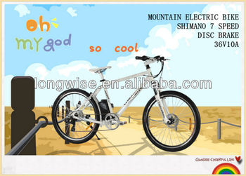 China quality 7-speed high power fat electric bicycle 36V high speed