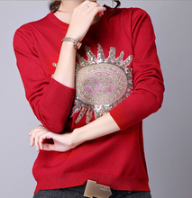 EY0387S 2015 new lovely pullover lady/women knit sweater with high quality