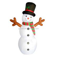 Custom inflatable snowman with stick for the Christmas outdoor decoration