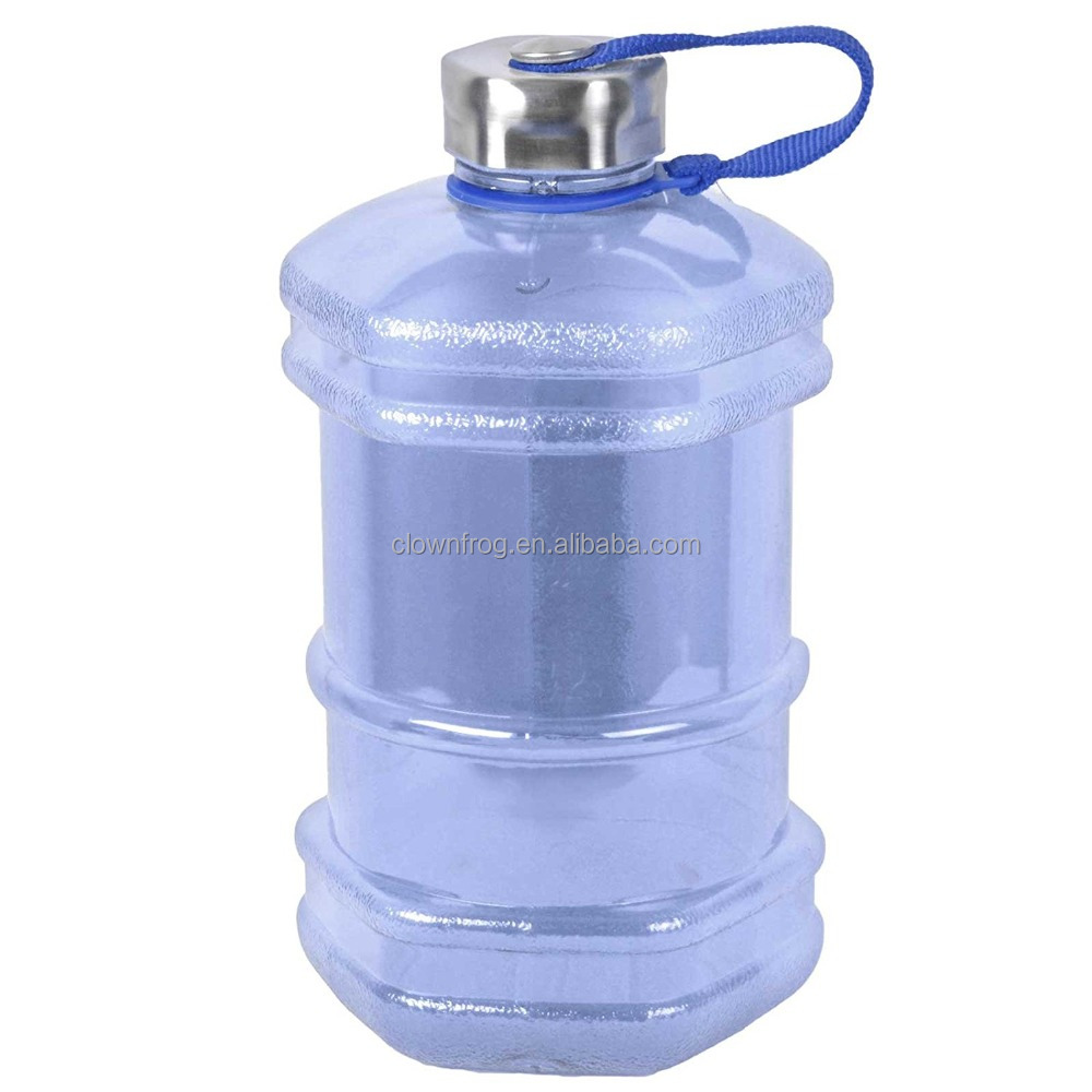 2.3 Liter BPA Free Reusable Plastic Drinking Water Bottle Jug Container w/ Hand Holder
