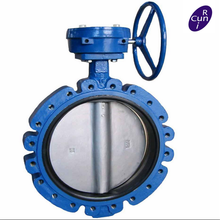 DN600 PN10 high seal butterfly valve with Gear actuator