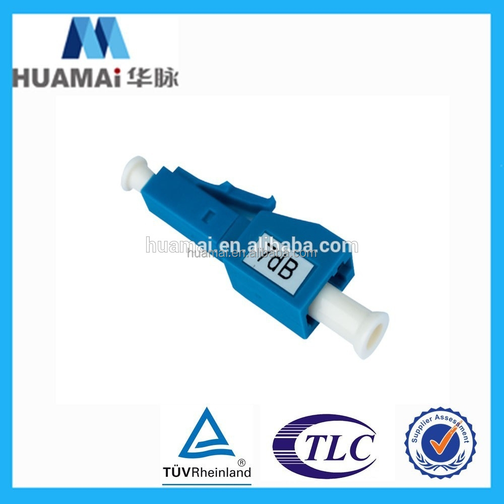 Factory supply singlemode 7dB 8dB 10dB 15dB 30dB LC/UPC Male to Female Fiber Optic Attenuator
