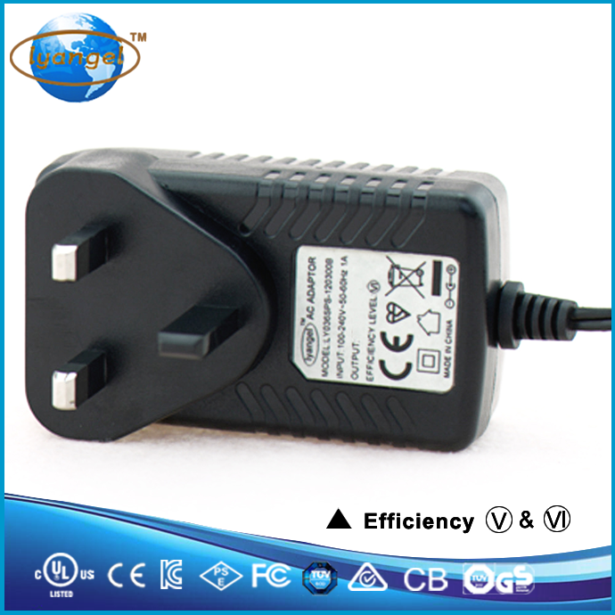UL FCC KC BS PSE CE certified factory price wall plug ac dc power supply 240 volt 12 volt transformer