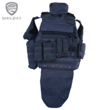 Military Full Body Ballistic Armor Suit Kevlar Bulletproof Vest With Plate