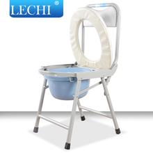 New Model hospital folding commode chair with bedpan for disabled people used bathroom furniture
