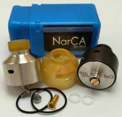 2017 Newest 316SS Narca Rda black silver Ultem narca rda with BF pin stock With DRIPTECH-DS Squonk box mod Now!!