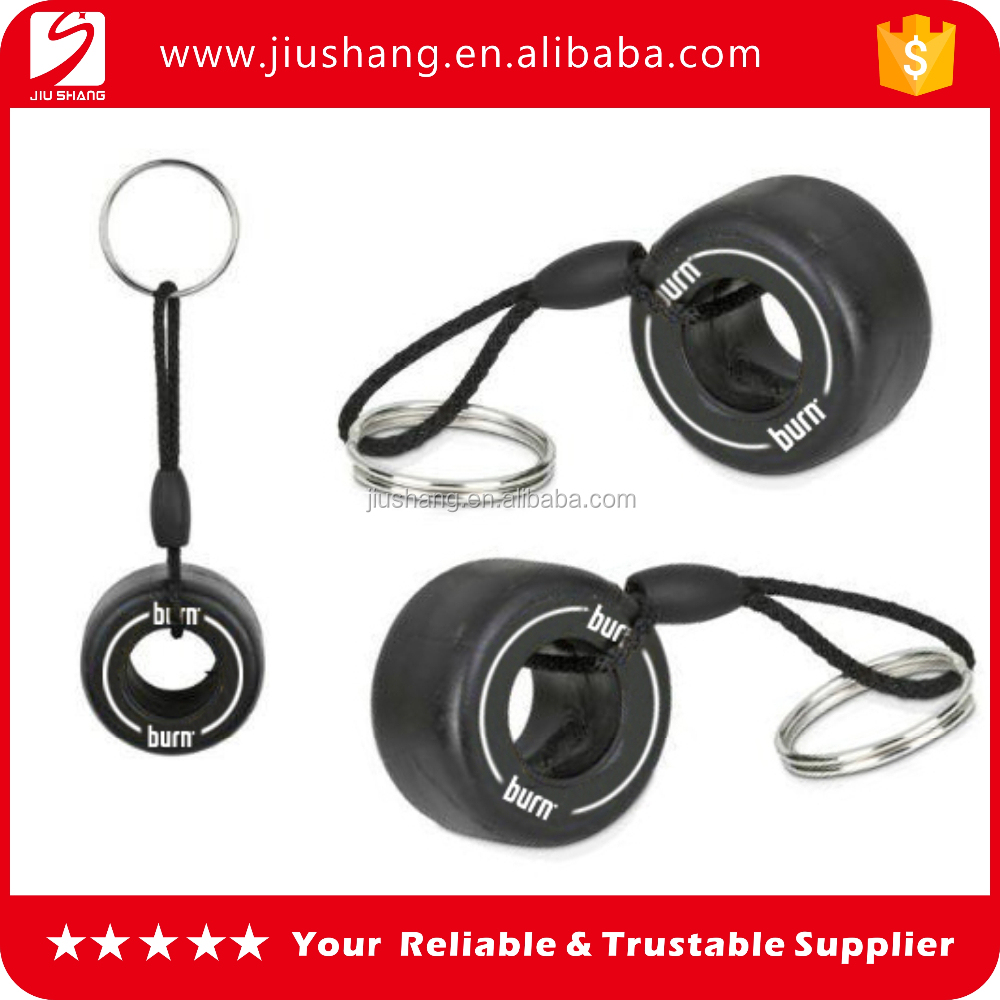 Fashional cool black pvc tyre keyring with factory price (pvc keychain)