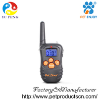 Petrainer Shock Collar with Beep, Vibration and Shock Electronic Rechargeable and Rainproof 330 yd Remote Dog Training collars
