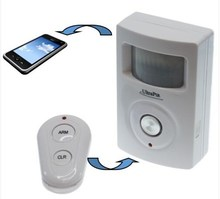 GSM Telephone & Text PIR Battery Powered Alarm power gsm alarm